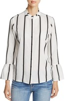 Calvin Klein Stripe Bell Sleeve Shirt