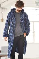 Mens Next Blue Check Fleece Robe