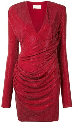 Alexandre Vauthier Embellished Fitted Wrap Dress