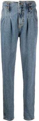 retrofete Pleated Waist Tapered Jeans