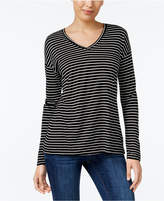 Style&Co. Style & Co Striped Long-Sleeve T-Shirt, Created for Macy's