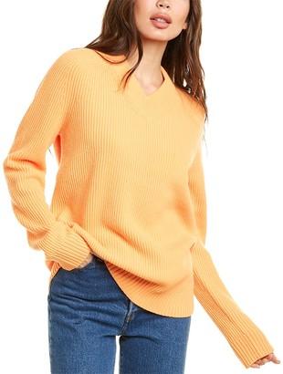 Helmut Lang Oversized Wool & Cashmere-Blend Sweater