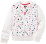 Osh Kosh Floral French Terry Bomber Jacket
