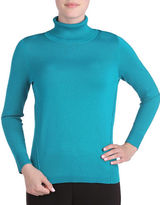 Allison Daley Solid Long Sleeve Pullover