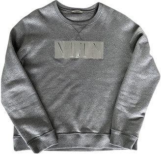 Valentino Grey Cotton Knitwear & Sweatshirts