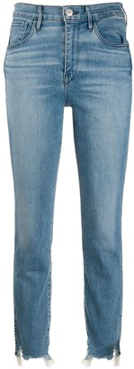 3x1 Mid Rise Straight Cropped Jeans