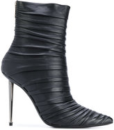 Tom Ford ruched stiletto ankle boots - women - Calf Leather/Leather - 36.5