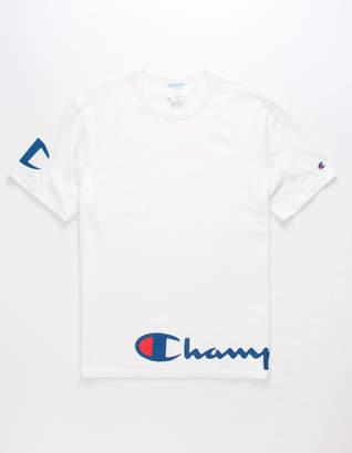 Champion Wrap Script White Mens T-Shirt