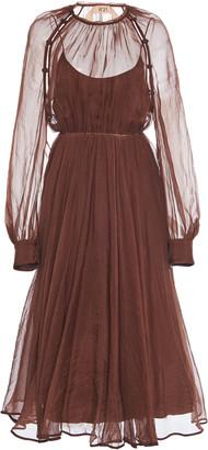 N°21 N21 Cold-Shoulder Silk Dress