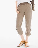 Chico's Woven Collection Washed Crop Pants