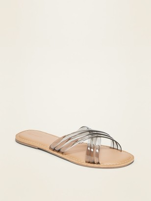 Old Navy Cross-Strap Jelly Slide Sandals for Women
