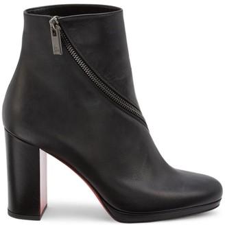 Christian Louboutin Birgitta Zipper Leather Ankle Boots