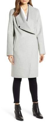 LAMARQUE Cascade Collar Wool Blend Coat