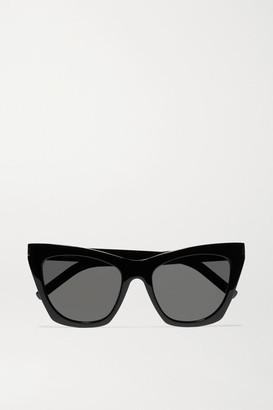 Saint Laurent Kate Cat-eye Acetate Sunglasses - Black