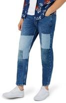 Topman Men's Jigsaw Patch Original Fit Jeans