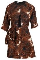 Miu Miu Creased satin dress
