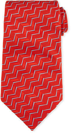 Charvet Zigzag Silk Tie