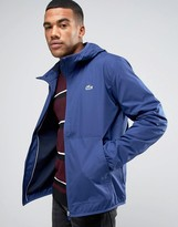 Lacoste Jacket With Hood In Blue