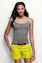 Lands' End Women's Tall Cami-Dark Concrete Heather Stripe