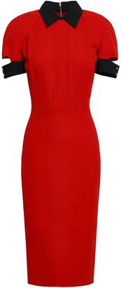Victoria Beckham Cutout Wool And Silk-blend Crepe Dress