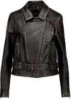 Belstaff Bellamy Perfecto distressed embellished leather jacket