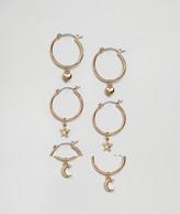 New Look Mini Charm Hoop Earrings Multipack