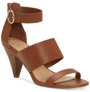 INC International Concepts Inc Gavi Strappy Cone Heel Dress Sandals, Created for Macy's Women's Shoes