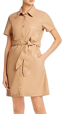 Blank NYC Faux Leather Shirt Dress