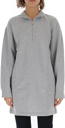 Paco Rabanne Logo Embroidered Half-Zip Front Sweater