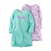 Carter's 2-pk. Lavender Owl Print Long-Sleeve Gowns - Toddler Girls 2t-5t