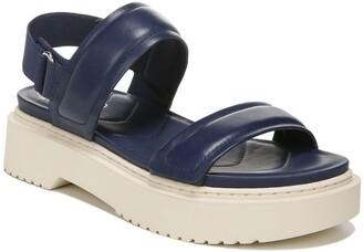 Franco Sarto Winda Leather Platform Sandal