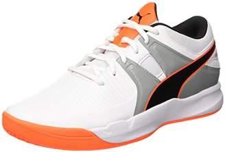 Puma Men's Explode 2 Multisport Indoor Shoes, White-Quarry-Shocking Orange