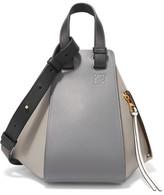 Loewe Hammock Color-block Textured-leather Tote - Gray