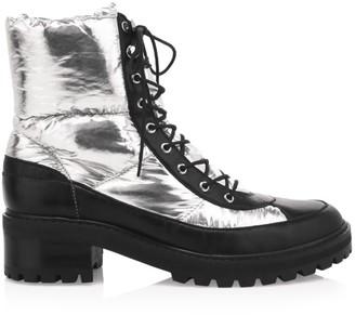 Schutz Amaris Metallic Combat Boots