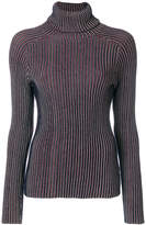 Carven roll neck ribbed top