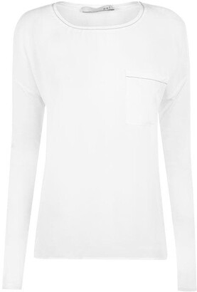 Oui Long Sleeved Chest Pocket Top