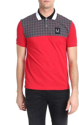 Raf Simons Fred Perry By Fred Perry by Check Panelled Polo