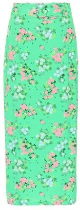 MONICA Bernadette floral stretch-jersey skirt