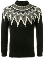 Saint Laurent sequined intarsia jumper - men - Wool - S