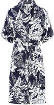Sugarhill Boutique Laria Roll Sleeve Palm Print Shirt Dress