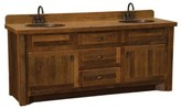 "Derecho 60"" Bathroom Vanity Base Only Union Rustic Orientation: Double Sink, Top: With Laminate Top, Leg Style: Hickory Legs"
