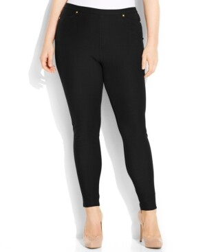 Michael Kors Michael Plus Size Pull-On Skinny Pants