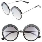 Jimmy Choo Women's Gotha/s 50Mm Round Sunglasses - Light Gold/ Semi Matte