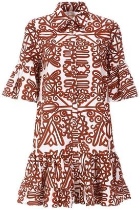 La DoubleJ Choux Aztec Short Sleeve Button Front Dress
