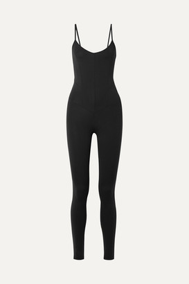 Live The Process Corset Stretch-supplex Bodysuit - Black
