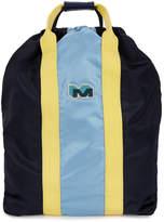 Marni Navy And Light Blue Nylon Backpack
