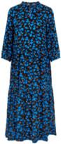 Y.A.S - Blue Floral Long Sleeve Yasgreenish Maxi Dress Y.A.S. - xsmall