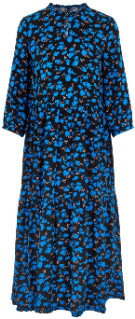 Y.A.S Blue Floral Long Sleeve Yasgreenish Maxi Dress xsmall