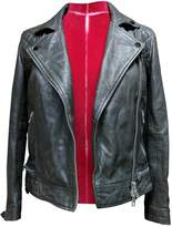 AllSaints Anthracite Leather Leather Jacket for Women