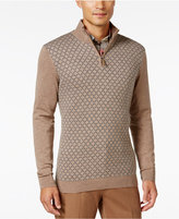 Tasso Elba Men's Pattern Quarter-Zip Sweater, Classic Fit, Only at Macy's